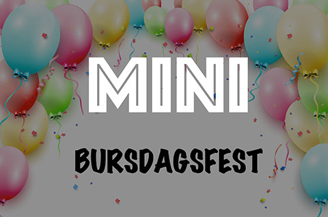 BURSDAGSFEST MINI